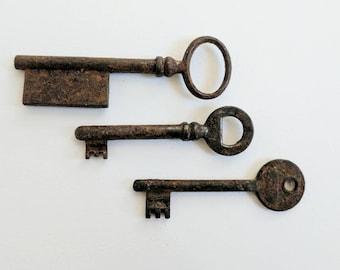 Vintage Keys - Vintage French Keys - Antique Keys - French Keys - Skeleton Keys - Vintage Skeleton Keys - Key Decor