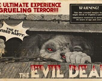 "The Evil Dead 11x17"" Landscape Movie Poster"
