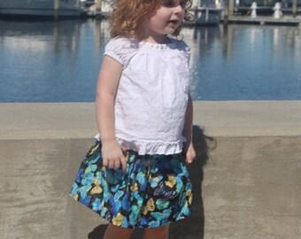 Toddler - Blue Butterfly Skirt