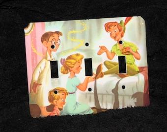 Disney Peter Pan Tinker Bell Triple Switch Plate Light Cover Wallplate