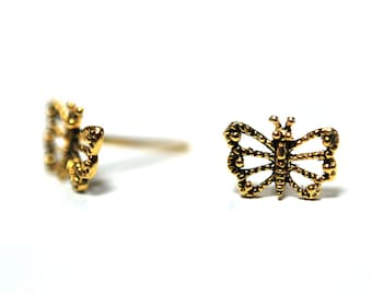 Small Silver Butterfly Stud Earrings