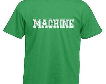 Machine gym bodybuilder slogan children's kids t shirt