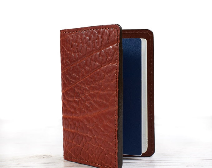 Leather passport cover. Passport holder. Travel case. Personalized travel gift.