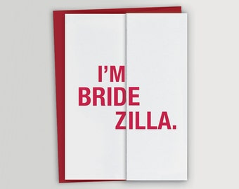 Bridezilla Funny Will You Be My Bridesmaid Card / Customized Bridesmaid Card / Will You Be My Maid of Honor Card - Funny Card