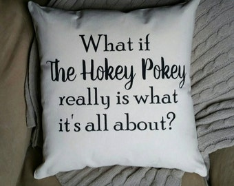 Hokey Pokey | Teacher retirement gift | Physical Education | Pillows with Words | Preschool worker gift | Nursery Rhyme | Teacher Gifts
