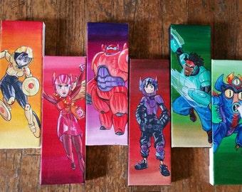 Big hero 6 -  baymax,  hiro,  gogo,  wasabi,  fred,  honey