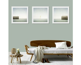 Triptych Wall Art, Set of 3 Wall Art Prints, Minimalist Ocean Art, Made in Ireland, Print Set, Wall Art Print Set, Beach House Decor