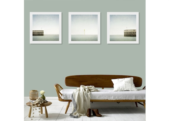 Triptych Wall Art Set Of 3 Wall Art Prints Minimalist Ocean