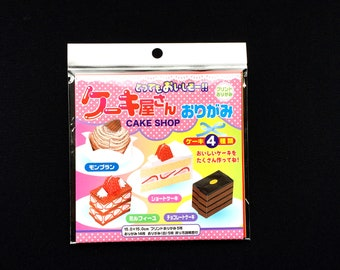 Japanese  Cake  Origami Kit  - 4 Kinds of cake - Bakery Origami Kit -  How To Origami