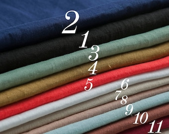 11 Colors Pure Ramie fabric,solid color,slight sculpture,breathable,gentle and simple style,sew for top,shirt,vest,dress,craft by the yard