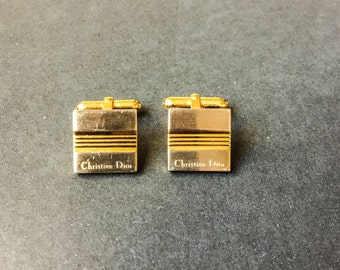 Dior cufflinks Christian Dior cufflinks vintage Dior silver gold cufflinks striped cufflinks groom cufflinks groomsmen cufflinks