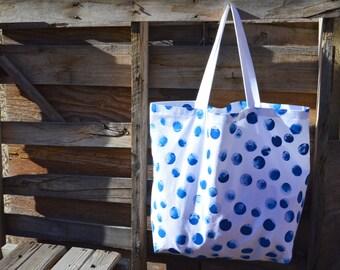 Plage sac - sac - sac - grand sac de plage de peint à la main
