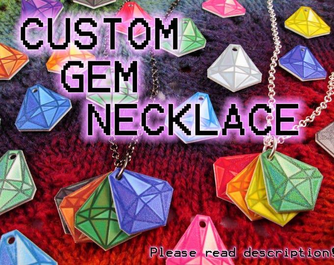 Mood Gem Necklace - Custom - Build your own! - Communication Necklace