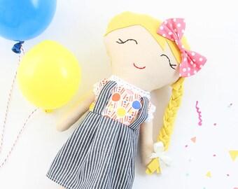 Gal-Pals Original, Lucille, handmade fabric rag doll