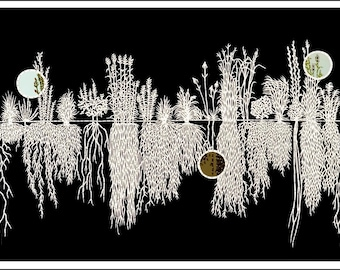 Prairie Plants, print of original