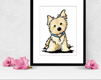 CAIRN TERRIER Dog Original Art Illustration