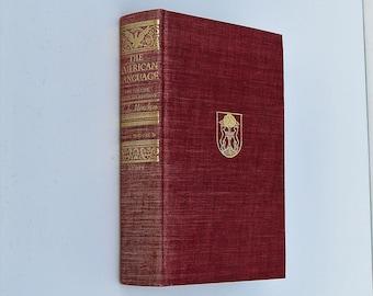 1963, The American Language by H.Mencken, Abridged, Hardcover, Vintage Reference Book, English American Language,International Student Book