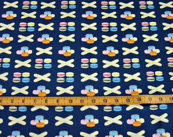 Dear Stella, French Lessons Collection, French Pastries on Navy, JL390 1/2 yard