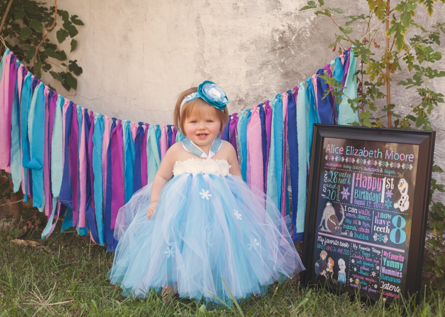 Baby Frozen Tutu Dress Frozen Costume Snowflake Winter