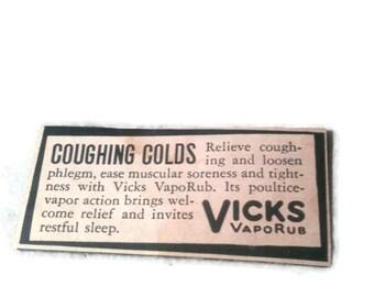 Vicks Medical Ad, Vintage, Ad, medical Ad, Vicks, Medical Ad, Product history, Ad, Vicks