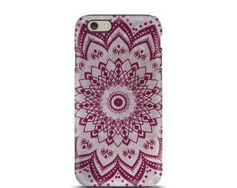 Mandala iPhone 6s case, iPhone 8 case, iPhone 5s case, iPhone 7 case, iPhone 6 case, iPhone 7 Plus case, iphone case, phone case - Boho