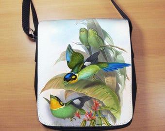 John Gould Birds of Asia Small Shoulder Bag, Small Crossbody Bag, Small CrossBody Purse, Cross Body Bag, Sling Bag, Small Purse, Bag