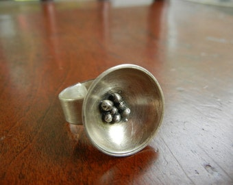 Sterling Silver Bird's Nest Ring - size 7
