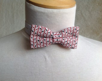 red playing card bow tie for children