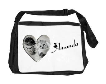 Kittens bag personalized with name