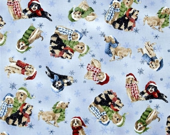 Christmas Dogs from Fabri-Quilt's Seasons Greeting Collection