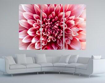 Huge Pink Flower Chrysanthemum 3 Piece Vinyl Wall Art Sticker Decal Transfer P1T