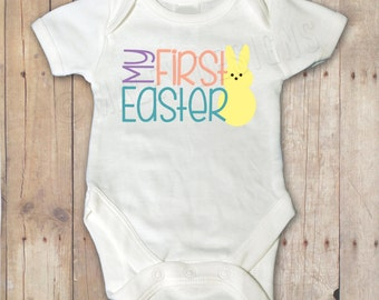 My First Easter Bodysuit/ Easter Outfit / Baby Girl Easter Outfit / Baby Boy Easter Outfit / Newborn Outfit