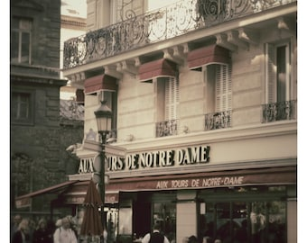 "Paris Cafe 8"" x 10"" Photo Fine Art- Pastel Cream and Brown Colors-Fine Art Photography-France Architecture, Home Decor, Wall Art"
