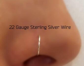 22Gauge Nose Ring Hoop Piercing