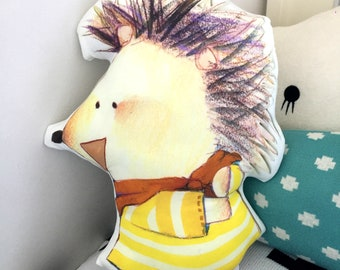 custom photo pillow, personalised pillow head, decorative pillows, University, College Pillow, Degree Show, Illustrators, kids, personalized