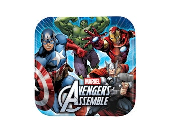 Marvel Avengers Paper Plates - 9 inch - Party Supplies, Tableware