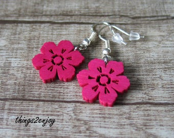Earrings-Flower in pink
