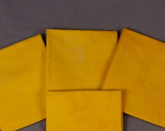 Clear Yellow Hand-Dyed Quilting Cotton Fat Quarter