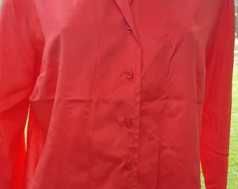 Vintage 70's red saturday night fever disco days dance dress shirt