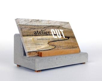 Business card holder etsy more colors concrete business card holder colourmoves