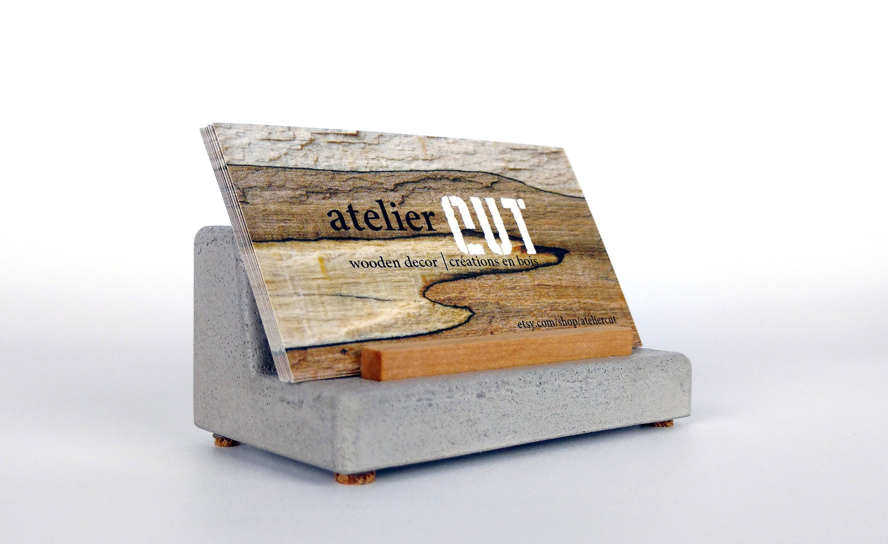 Concrete Business Card Holder / Cement Business Card Holder /