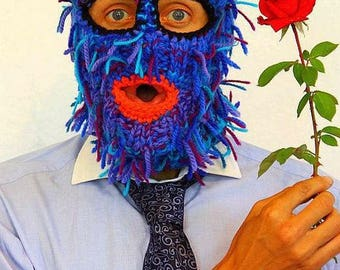 Knitted helmet a real man, a lot of colors funny hat or mask, snowboard funny hat