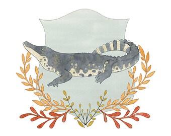 Chinese Alligator print