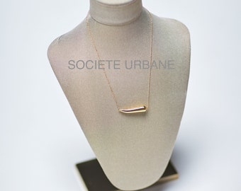 Gold Horn Pendant- Simple Layering Necklace-Gifts for Her-Unique Necklace-Gold Horn/Boho /Minimalist /Cool/ by Societe Urbane™ SU016