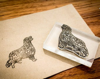 Custom Fine Art Rubber Stamp - 4x3 Inches