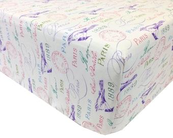 reg. price 26.00 Pastel Paris Crib Sheet