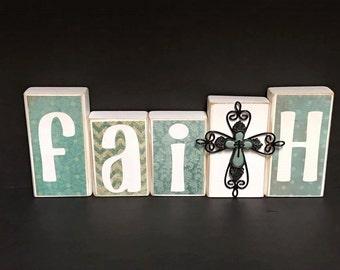 Faith block set with cross