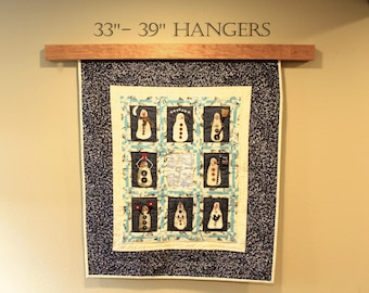 "33"" to 39"" inch Knob-less modern quilt wall hanger"
