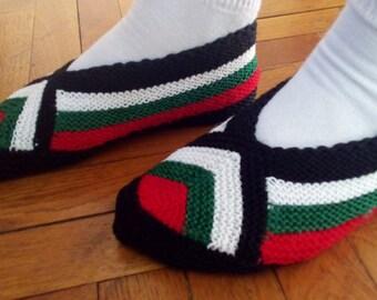Handmade Slippers, Yarn Slippers, Crochet Slippers, Warm Slippers, House Slippers, Home Slippers.
