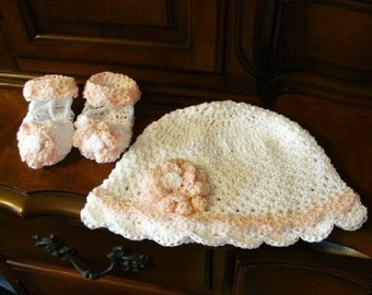 Infant to Adults Sunhat and Baby Summer Slipper Sandals Crochet Pattern PDF 450